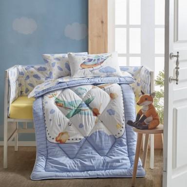 Bebek Uyku Seti Air Plane Mavi