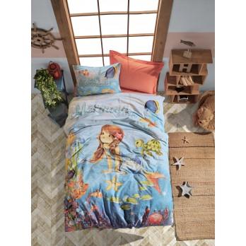 Junior Tek Kişilik Nevresim Takımı Mermaid Mercan