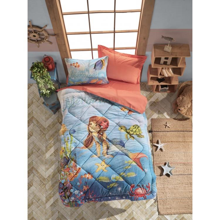 Junior Tek Kişilik Uyku Seti Mermaid Mercan
