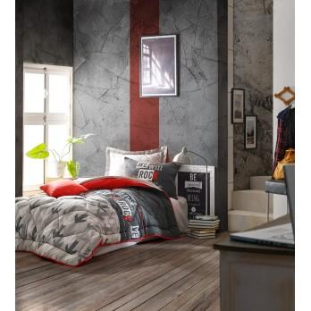 Genç Odası Tek Kişilik Uyku Seti Rock Kırmızı