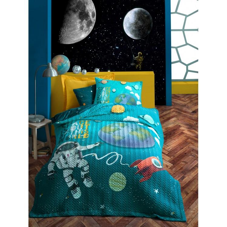 Junior Tek Kişilik Complete Set Little Astronaut Turkuaz