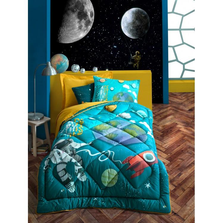 Junior Tek Kişilik Uyku Seti Little Astronaut Turkuaz