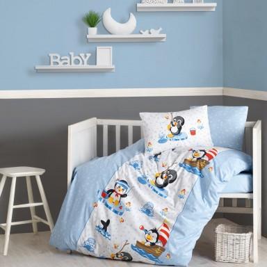 Penguen Mavi Bebek Nevresim Takımı