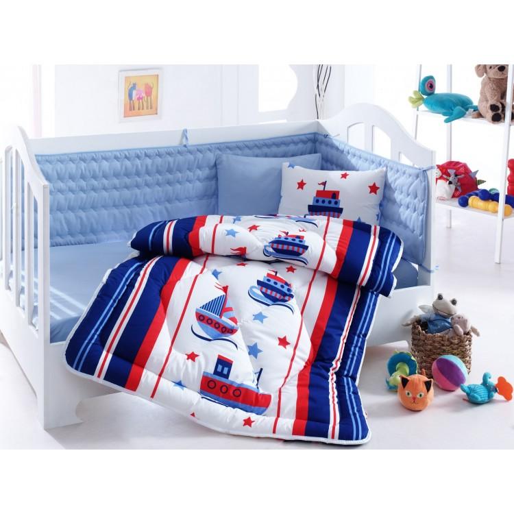 Denizci Mavi Bebek Uyku Seti