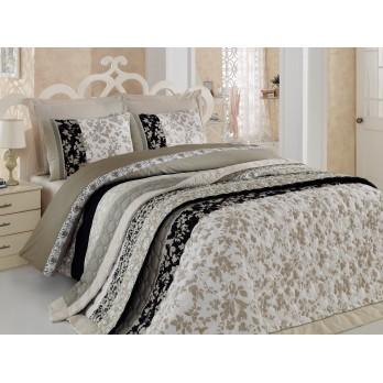 Comfort Set Deborah  Çift Kişilik Yatak Örtüsü + Nevresim Takımı Bej