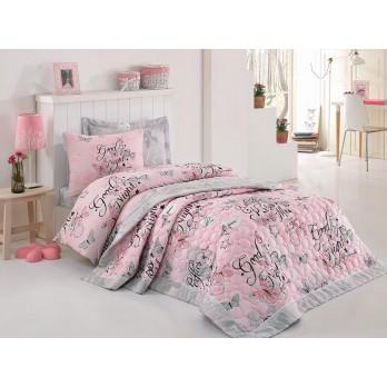 Comfort Set FeelingTek Kişilik Yatak Örtüsü + Nevresim Takımı Pembe
