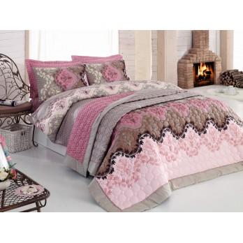 Comfort Set Lida  Çift Kişilik Yatak Örtüsü + Nevresim Takımı Bej
