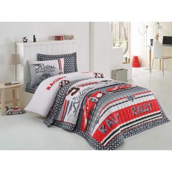 Comfort Set Redcar Tek Kişilik Yatak Örtüsü + Nevresim Takımı Kirmizi