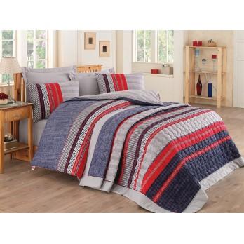 Comfort Set Vera Çift Kişilik Yatak Örtüsü + Nevresim Takımı Mavi