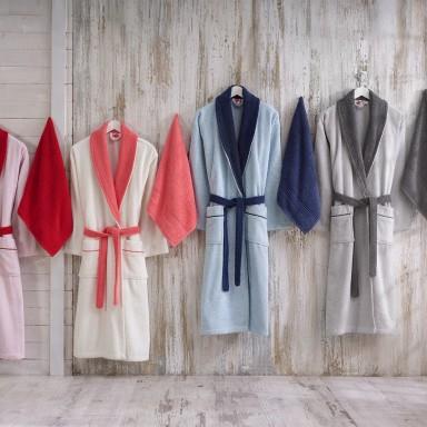 Daily Tek Kişilik Bornoz Seti 2 Parça (4 Farklı Renk Seçenekli Bay Bayan Havlu ve Bornoz)