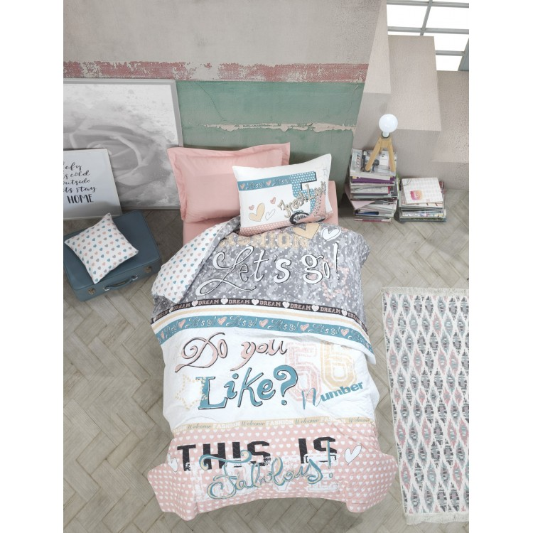 Genç Odası Tek Kişilik Complete Set Fashion Pudra
