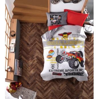 Junior Ranforce Tek Kişilik Complete Set Monster Kırmızı