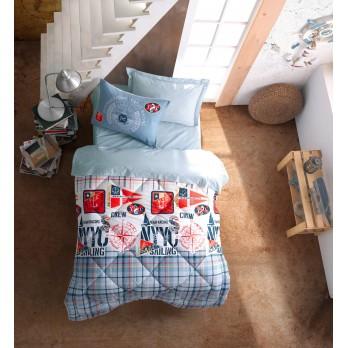 Genç Odası Ranforce Tek Kişilik Uyku Seti Cruise Mavi