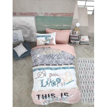 Genç Odası Tek Kişilik Uyku Seti Fashion Pudra