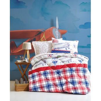 Junior Air Balloon Tek Kişilik Uyku Seti Kırmızı