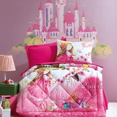 Junior Princess Tek Kişilik Uyku Seti Pembe