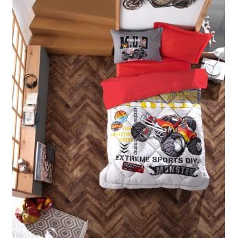 Junior Ranforce Tek Kişilik Uyku Seti Monster Kırmızı