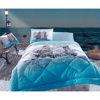 Maritime Ship  Çift Kişilik Uyku Seti Mavi