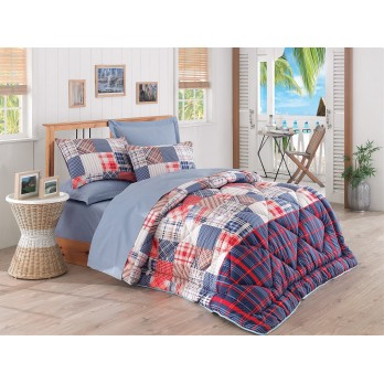 Mode Line Jose Çift Kişilik Uyku Seti Mavi