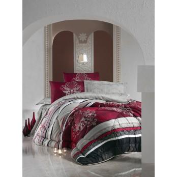 Royal Saten Çift Kişilik Uyku Seti Azra Bordo