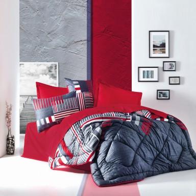 Saten Çift Kişilik Uyku Seti Roxy Kırmızı